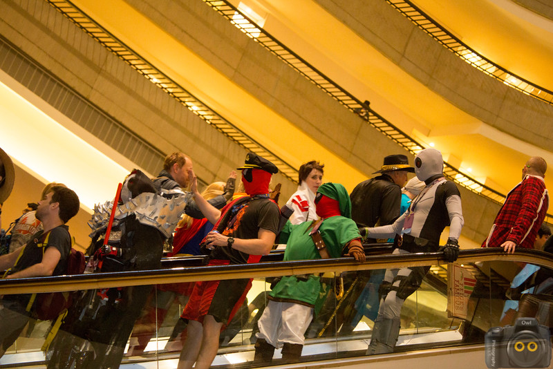 Crowd Shot on the escalator