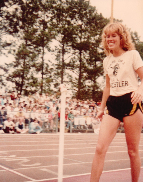 Andrea Lauro, returning with her race award. Last of the '82 Chenoweth shots.