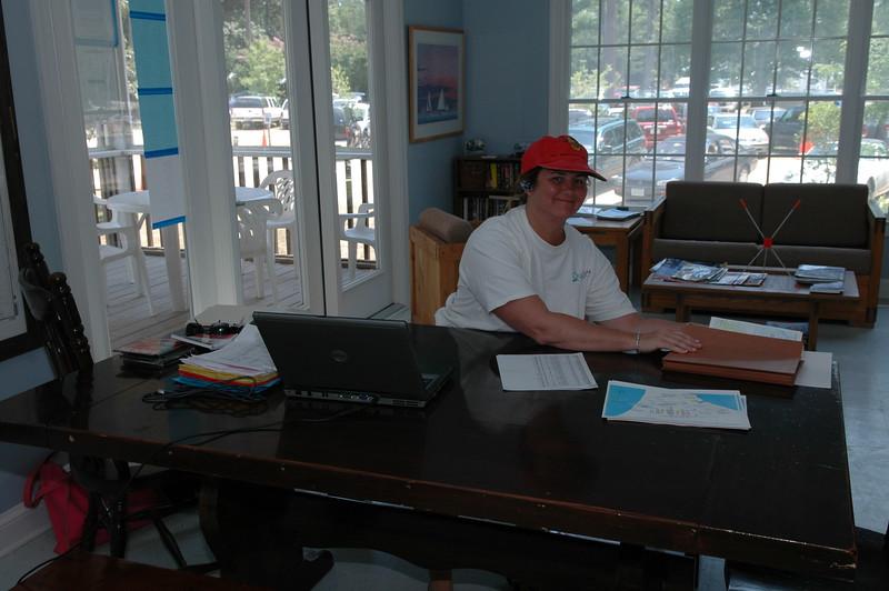Elizabeth Staas in the regatta office
