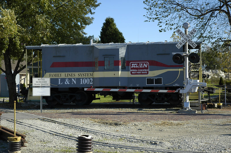 Model train yard on Lincoln Highway in Bucyrus Ohio