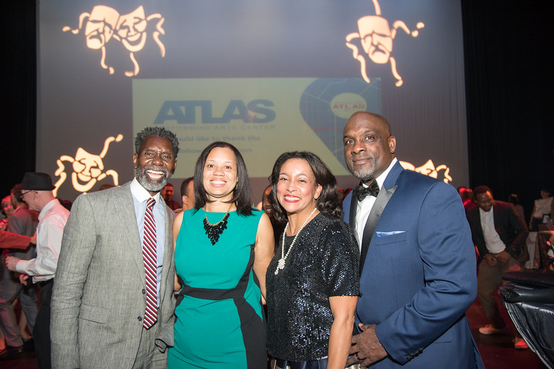 Anwar Saleem, Angie Gates, Lauren Vaughan, Horace Fauntleroy, Atlas Performing Arts Center, Destination Atlas Party for a Purpose Gala, October 6, 2017. Photo by Ben Droz.