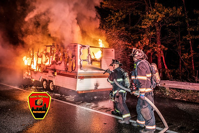 RV Fire - Rt 2 E/B, Leominster, MA - 5/26/20