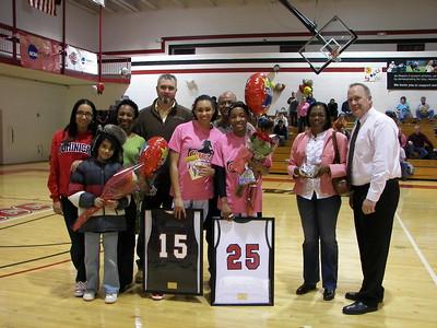 2010-11 Basketball Senior Day