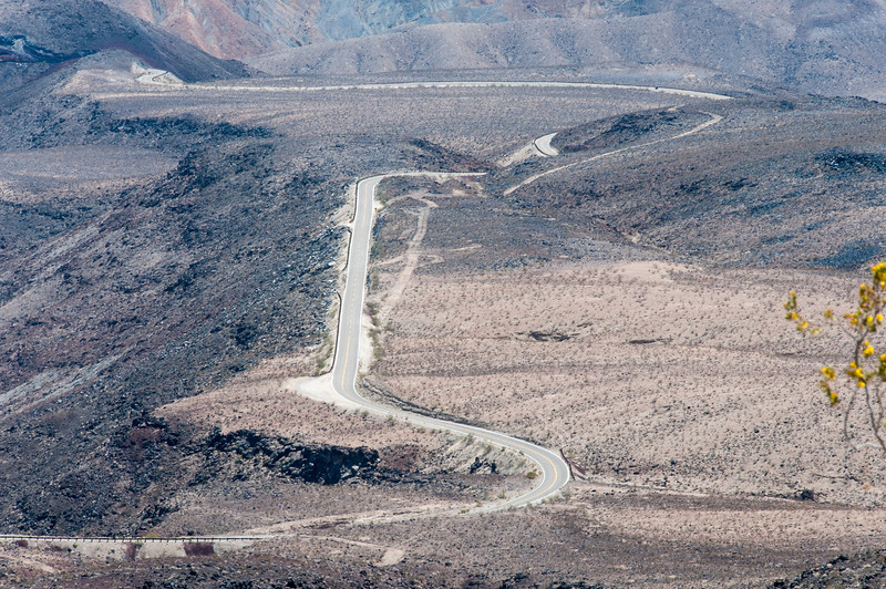 Winding road in Death Valley, California