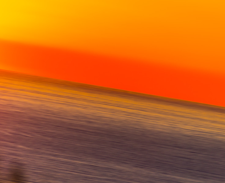 Abstract image of sunset on the Pacific Ocean
