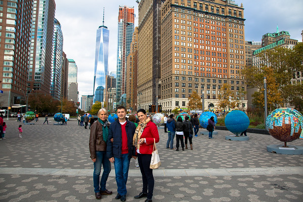 Exploring downtown New York, with Bogdan and Dana - November 2, 2015