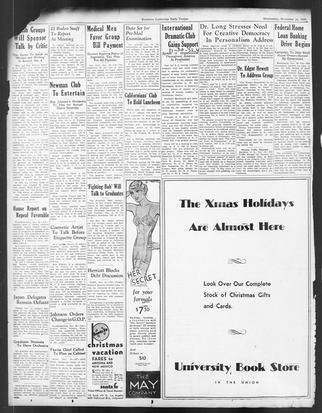 Daily Trojan, Vol. 24, No. 55, November 30, 1932