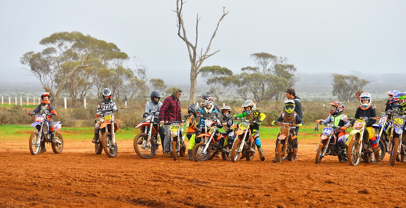 Practise sessions at Renmark MotoX track