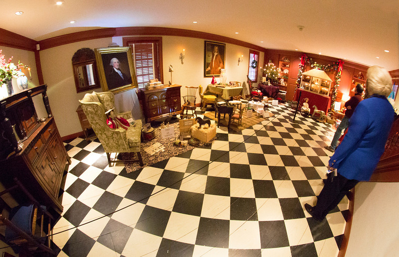 The Murphy Room displaying a child's Christmas as it might appear in sequential eras.
