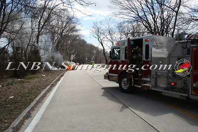 Wantagh F.D. Car Fire N/B Wantagh Pkwy at Merrick Rd. 3-23-13