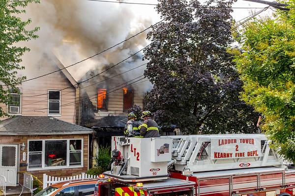 Kearny NJ 5th alarm, 350, 348 & 352 Elm St. 07-18-21