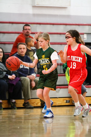 4th Grade Girl's • St. Vincent vs St. Ambrose Gold • 12-14-2013