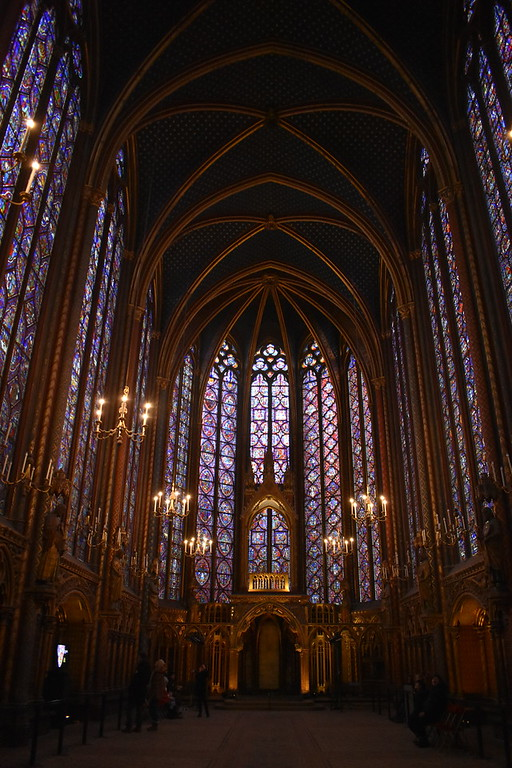 Upper level of Sainte-Chapelle in Paris, France