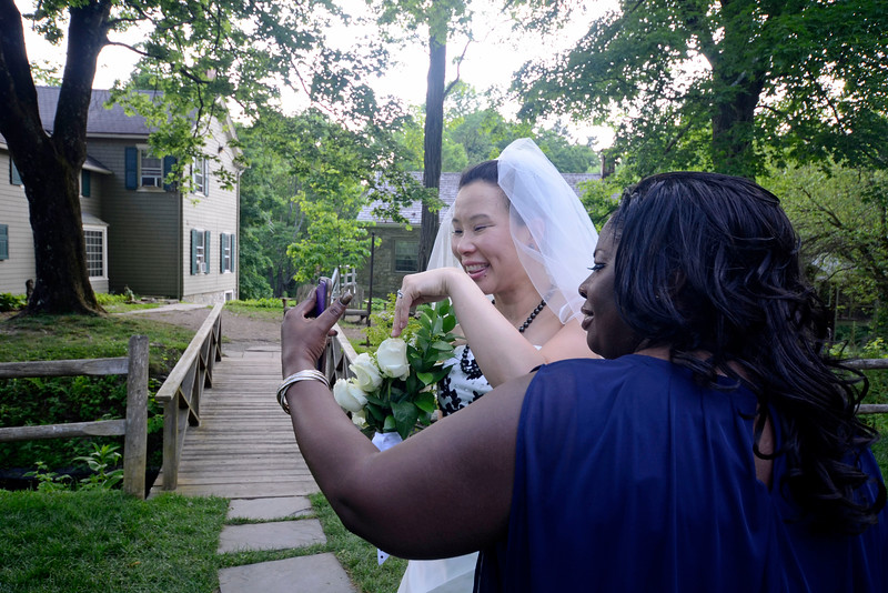 HOPE, NEW JERSEY - MAY 27, 2016: The wedding of David and Rosanna Docherty at the Inn at Millrace Pond on May 27, 2016 in Hope, New Jersey. (Photo by Lukas Maverick Greyson)
