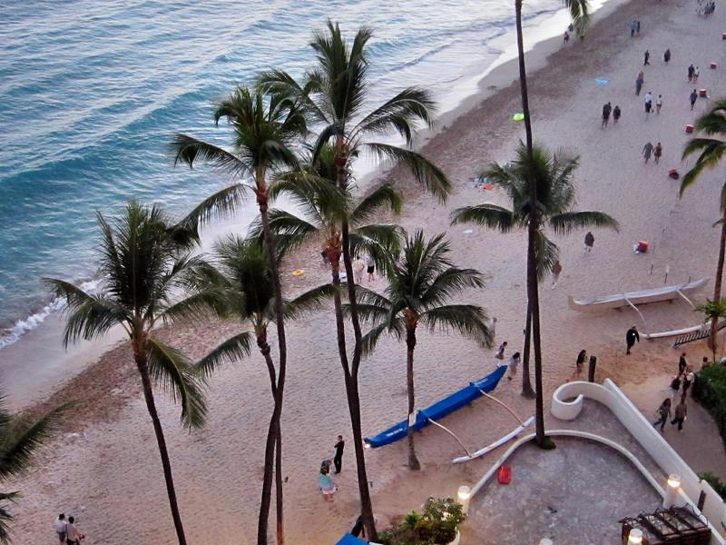 Outrigger Waikiki Beach Hotel and Waikiki Scenes