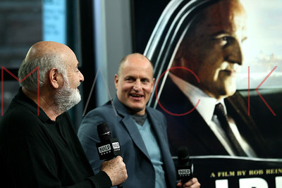"""NEW YORK, NY - OCTOBER 17:  Build presents Rob Reiner and Woody Harrelson discussing the film """"LBJ"""" at Build Studio."""