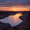 Sunset on the Snake River Near Bruneau, Idaho