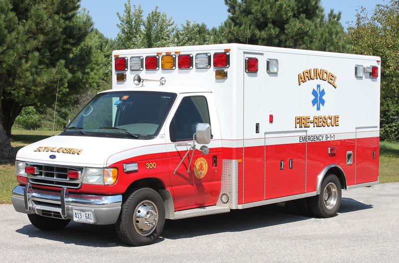 Retired.  Ambulance 300.  2002 Ford / PL Custom