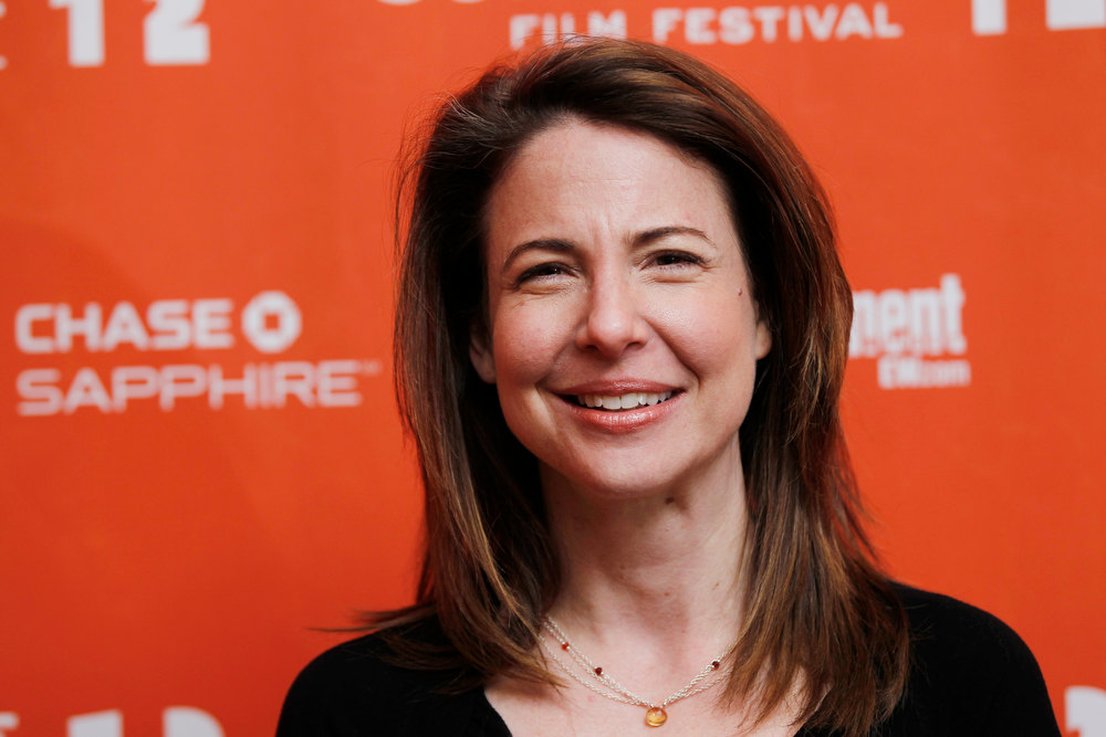 "Description of . Actress Robin Weigert poses at the premiere of ""The Surrogate\"" during the 2012 Sundance Film Festival in Park City on Monday, Jan. 23, 2012. (AP Photo/Danny Moloshok)"
