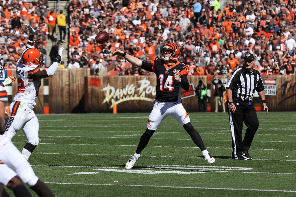 . Tim Phillis - The News-Herald Scenes from the Browns-Bengals game on Oct. 1 at FirstEnergy Stadium in Cleveland.
