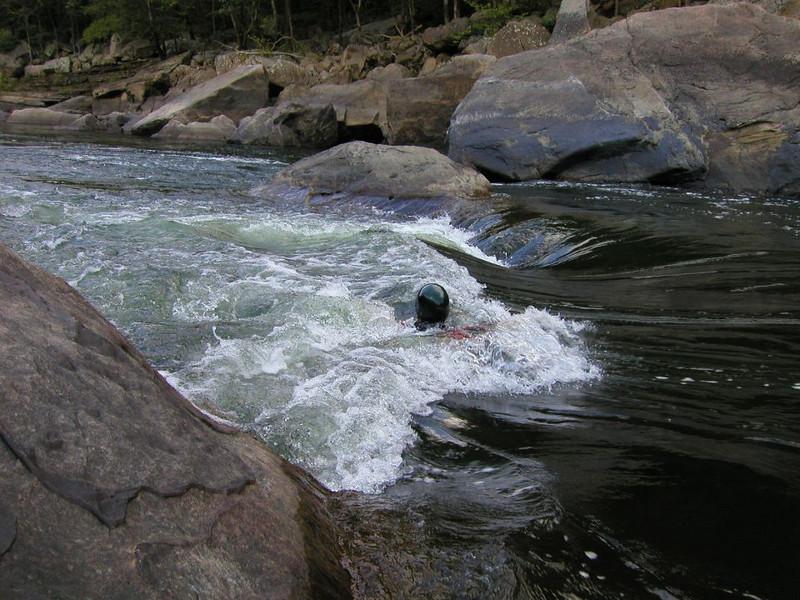 John @ Halls of Karma New River, West Virginia Photo by James Hubshman