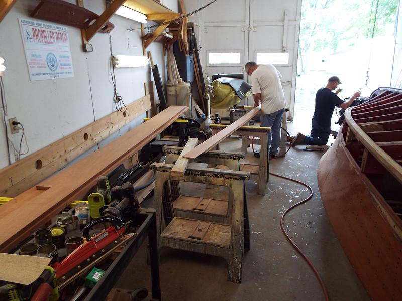 Starting final sanding on the cockpit liner.