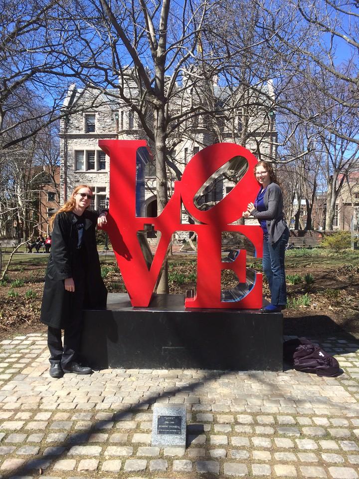 Philadelphia 2015 Upenn LOVE sign