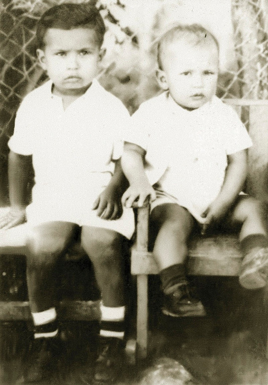 . Venezuela\'s President Hugo Chavez (R) and his brother Adan are pictured during their childhood in their hometown Sabaneta, in the state of Barinas, in this undated handout photo provided by Venezuela\'s Ministry of Information and Communication.  REUTERS/Ministry of Information and Communication/Handout