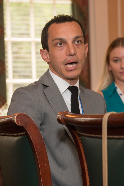 Giuseppe Cataldo (2009 Scholar) -- 2016 Dr. John Mather Nobel Scholars Program Award  luncheon, held at the Hopkins Club, Johns Hopkins University, Baltimore, MD, July 26, 2016.