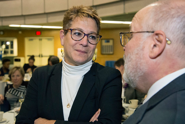 11/21/19 Wesley Bunnell | StaffrrThe Greater New Britain Chamber of Commerce celebrated their 106th year with their annual dinner on Friday night at CCSU. CSDNB Superintendent Nancy Sarra.
