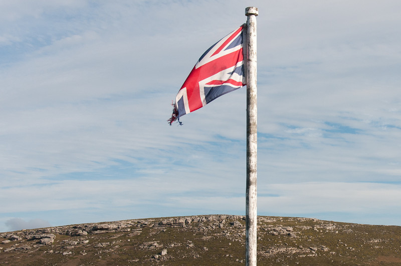 British flag in West Point Island