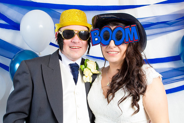 Emily and Colin's wedding photo booth