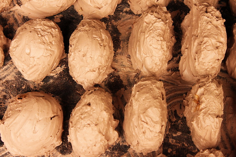 Portioned clay balls