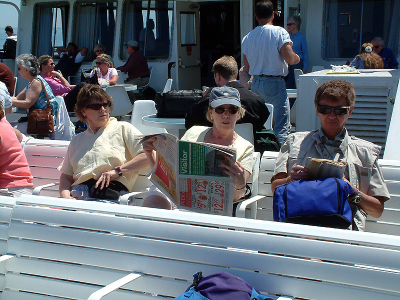 Martha's Vineyard - Passing time on the ferry.jpg