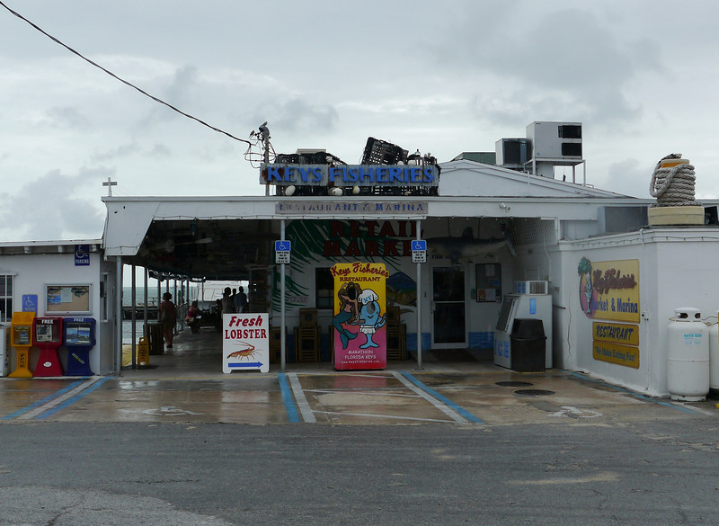 Lunch at Keys Fisheries on Marathon, Florida