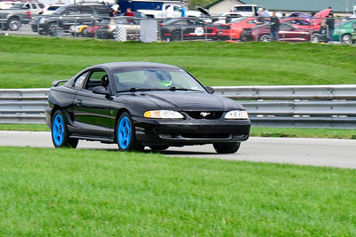 2020 SCCA TNiA Pitt Race Sept 30 Nov Blk Blu Mustang Older