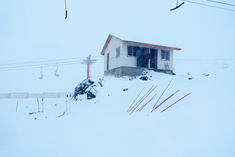 Blowing snow. Day 3. Day 1 was high winds and scoured snow. Day 2 was rain and clearing snow up high. Day 3 was blowing snow and low visibility. Which would you take?