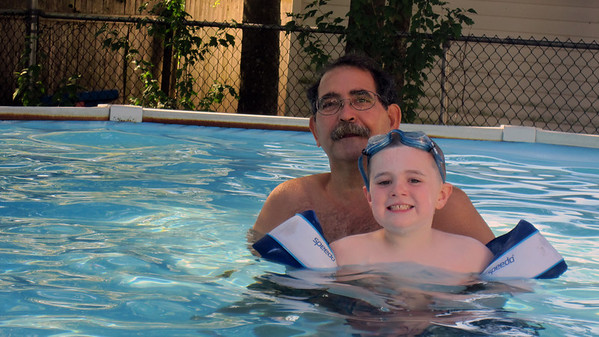 Jake and Ronnie in the Pool