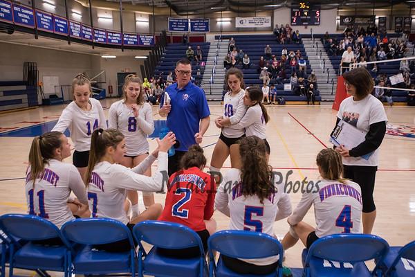 2019-10-25 WHS Girls Volleyball vs Portsmouth on Senior Night