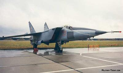 Prototype MiG-25R recon at  3.2 Mach.