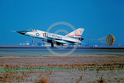U.S. Air Force Convair F-106 Delta Dart Interceptor Parachute Airplane Pictures