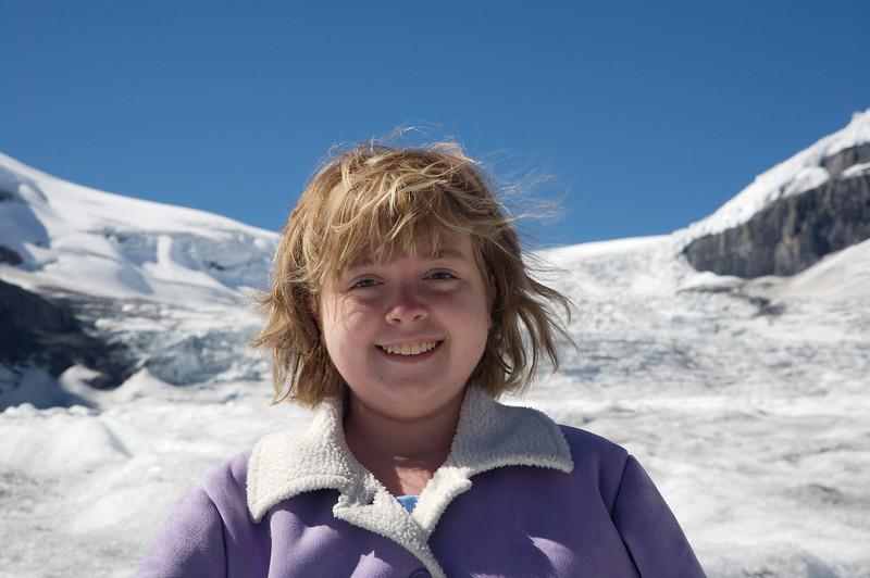 Kyra on the glacier