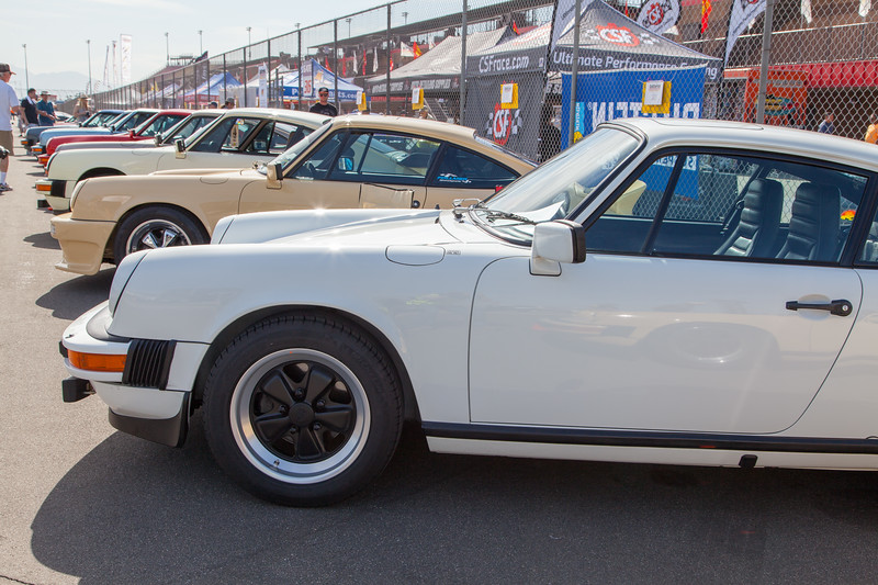 Variety of Porsche 911s on display