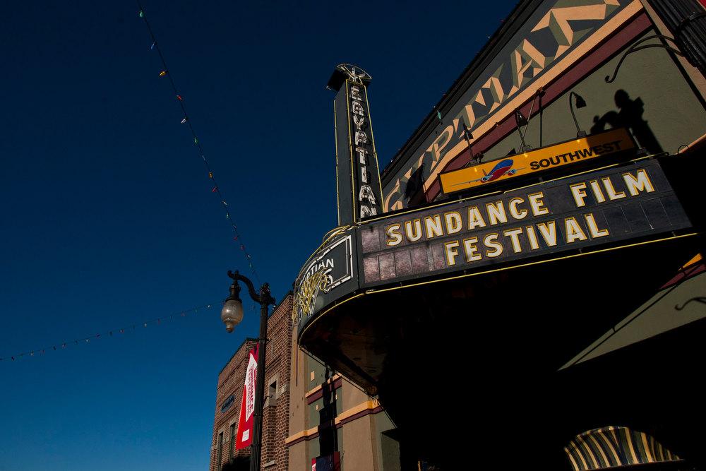 . Chris Detrick  |  The Salt Lake Tribune The Egyptian Theatre on Main Street during the 2013 Sundance Film Festival in Park City, Utah Friday January 18, 2013.