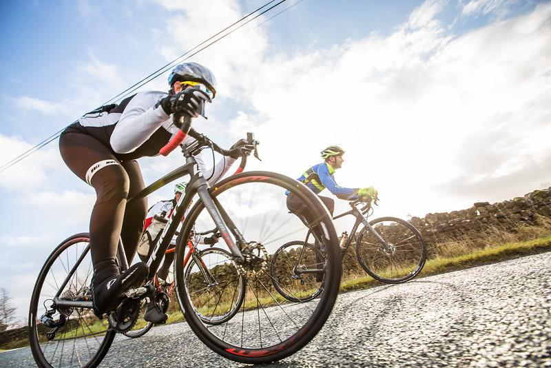 Tuck for speed, testing bikes for Bikes Etc Magazine.