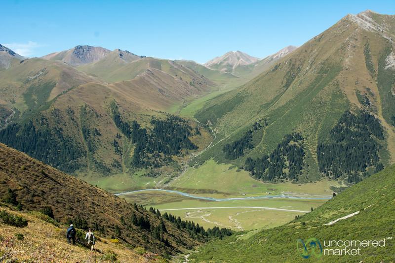 Descending to Jyrgalan River - Kyrgyzstan
