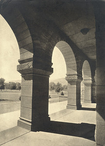 Palmer Hall Arches Looking out on the Quadrangle Early 1900�s