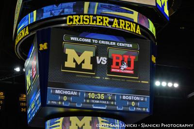 Michigan Women's Basketball Vs Boston Univeristy 11-24-12