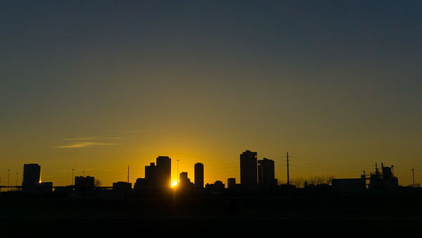 2018-01-10 Sunset Downtown Fort Worth