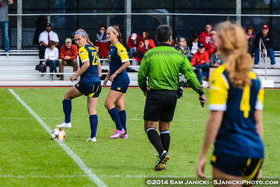 2nd Half from UM Women's Soccer Vs Wisconsin 9-14-14